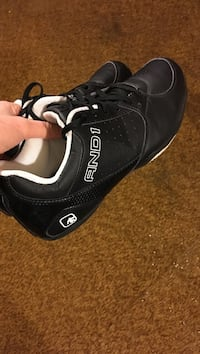 Pair of black and 1 basketball ball shoes Harrisburg, 62946