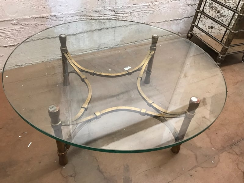 1940s glass coffee table 0