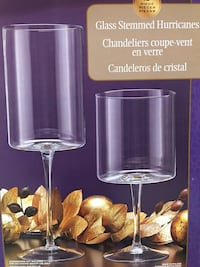 two clear glass candle holders Sacramento, 95815