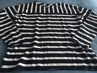 Women's brand new long sleeved striped top by Loft, size large