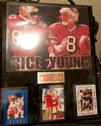 Steve young and jerry rice frame  2345 mi