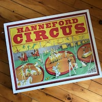 """Vintage 50's/60's Framed Hanneford Circus Poster 29x23"""" Toronto"""