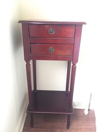 Brown wooden 2-drawer nightstand ( Bombay collections.  Montréal, H4N
