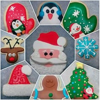assorted Christmas theme Cookies collage