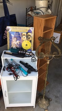 Belly Dancing CD, ($5), Brass music stand($15) &Hair curlers($7 ea.) Mableton, 30126