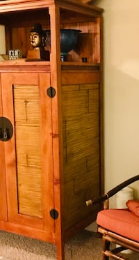 Solid Wood Armoire with bamboo inlay Scottsdale, 85258