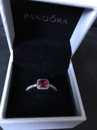 Silver and diamond ring in box Teulon, R0C