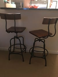 Two Wood/Rod Iron Bar Stools Washington, 20002