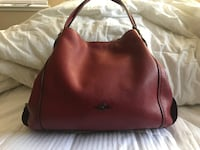 Raspberry  pebble leather hobo bag