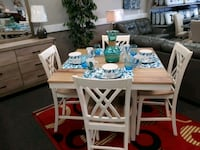 rectangular brown wooden table with six chairs dining set West Columbia, 29169