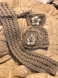 Hand made 3 pc set of scarf, hat and headband (different colors and styles also available) Livonia, 48152