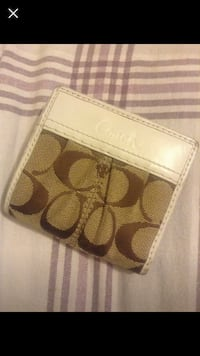 Small Coach wallet (white and brown) Windsor, N9G 1A4