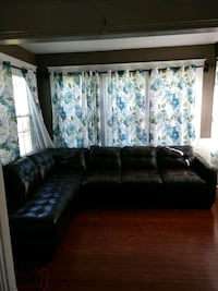 Leather couch sectional