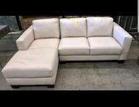 Brand new white chase leather couch Port Coquitlam, V3C 1S9