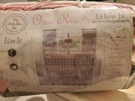 Olive rose crib bumper