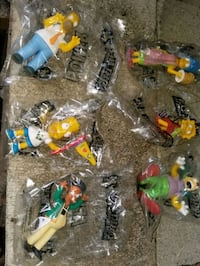 20th anniversary kids meal toys all 6 the Simpson's 2009 Toronto, M6N 4V7
