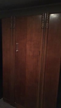 Brown wooden Antique Armoire  544 km