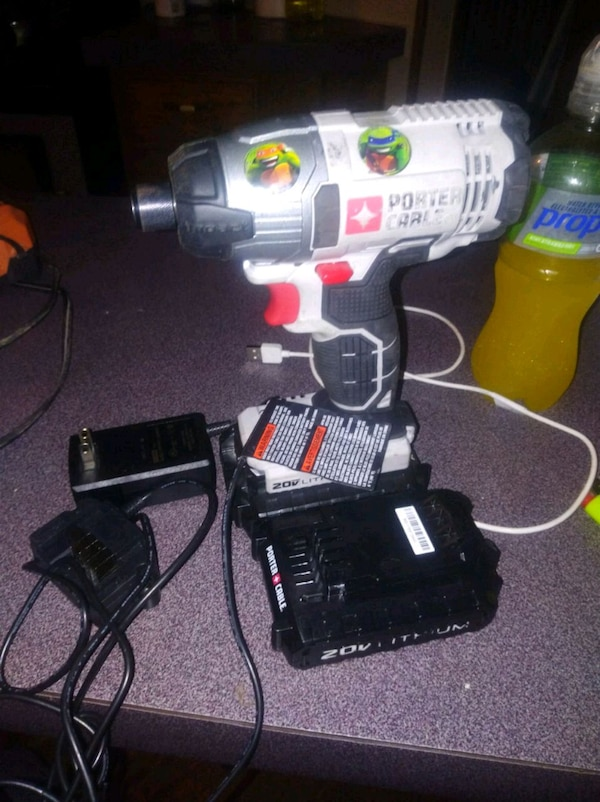 Used Porta Cable Impact Driver Comes With 2 Batteries A For In Piedmont Letgo