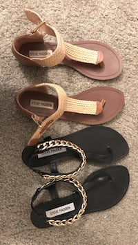Women's two pair of brown and black Steve Madden sandals Deptford, 08096