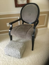 black and gray padded armchair Frederick, 21701