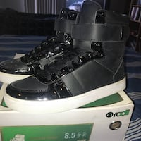 Vans high top shoes black and white Portland, 97232