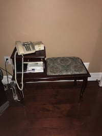 Antique phone stand with seat 544 km