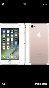 iPhone 7 unlocked no iCloud less than a week old nothing wrong with it Waterbury, 06705