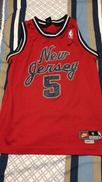 red and black New Jersey Nets number 5 basketball jersey shirt Winnipeg, R2R 0T3