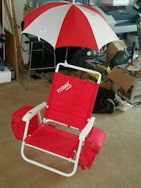 red and white camping chair Fairfax, 22032