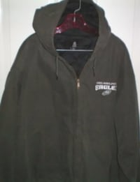 Philadelphia Eagles Full Zip Winter Jacket With Hood Size 3XL London