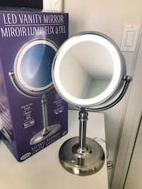BRAND NEW LED VANITY MIRROR  Double sided and magnified. $45 OBO Vancouver, V5L 1Y3