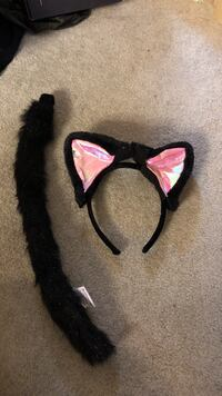 black and pink kitten Headband and tail costume Milpitas, 95035