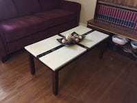Rectangular brown wooden coffee table Toronto, M3H 1W9