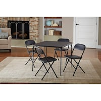 Cosco 5-Piece Card Table Set, Black (New in Box) Fort Wayne