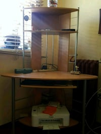 brown wooden desk with hutch Vancouver, V5M 2C2