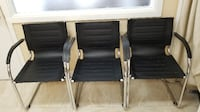 Like New Black Leather Modern Office Chairs null