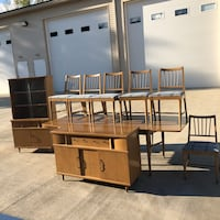 Mid Century Kroehler Dinette Set. Hutch, Buffet Table Chairs Newark, 43055