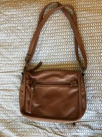 Saint johns bay adjustable strap brown leather bag Olney