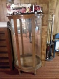 brown wooden framed glass display cabinet Syracuse, 46567