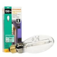SYLVANIA 150-WATT E17 MEDIUM BASE OUTDOOR HIGH-PRESSURE SODIUM HID LIGHT BULB PACK OF 2 3310 km