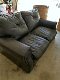 brown leather 3-seat sofa Bakersfield, 93312