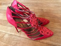 NEW Christian Siriano red beaded cage booties (SS 2013?) Los Angeles, 90018