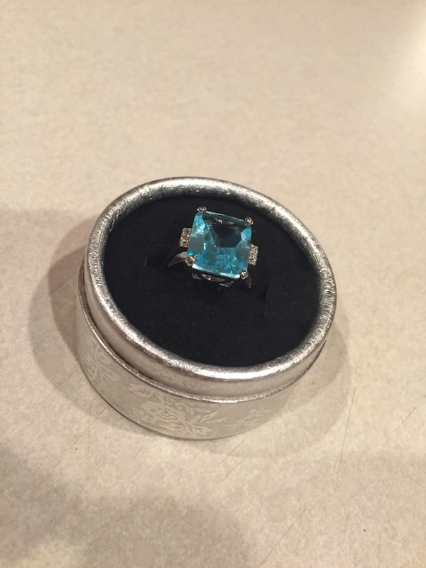 Ring (blue and real silver)