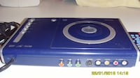 blue and white vinyl player null