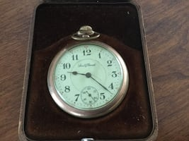 Pocket watch  Gold with case
