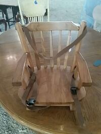 solid wood booster high chair
