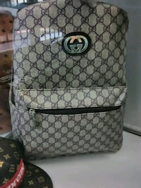 white and gray Gucci monogram backpack Sacramento, 95842