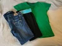 women's blue and green denim shorts Grand Rapids, 49525