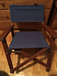 Blue and black wooden armchair Laval, H7K 2Z2