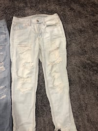 white and gray denim jeans Columbus, 43217